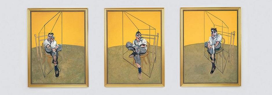 Bacon - three studies of Lucian Freud - 1969 2