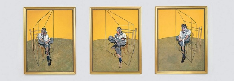 Bacon - three studies of Lucian Freud - 1969 2
